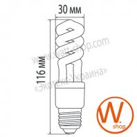 HS-09272 Eurolamp энергосберегающие лампы eurolamp t2 spiral 9w 2700k e27
