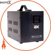 Стабилизатор напряжения переносной HOME СНР1-0- 1,5 кВА IEK IVS20-1-01500