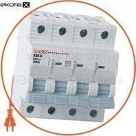 Автоматический выключатель ONESTO 4п С 40А MCB 6kA (KC6-K)