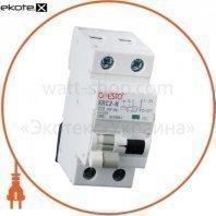 Дифавтомат ONESTO 1п+N, 16А, 30mA , тип AC, RCBO (KRCS2-N)