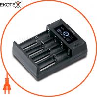 Зарядний пристрій LBC-318-HCB з ЖК-дисплеєм для Li-ion, NiMH,NiCd  (USB) для 4-х акумуляторів