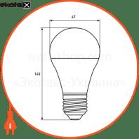 """eurolamp led лампа еко серія """"d"""" а70 20w e27 3000k (50) светодиодные лампы eurolamp Eurolamp LED-A70-20272(D)"""