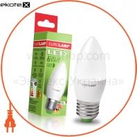 "EUROLAMP LED Лампа ЭКО серия ""P"" CL 6W E27 4000K"