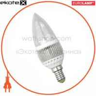 LED лампа Candle 3W E14 2700K Eurolamp