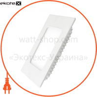 EUROLAMP LED Светильник квадратный Downlight NEW 4W 3000K (40)
