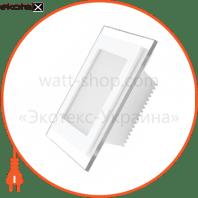EUROLAMP LED Светильник квадратный стекло Downlight 6W 3000K (30)