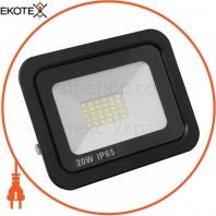 Светодиодный EUROLAMP LED SMD Прожектор черный с радиатором NEW 20W 6500K