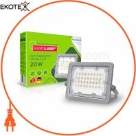 Светодиодный EUROLAMP LED SMD Прожектор cерый с радиатором 20W 5000K
