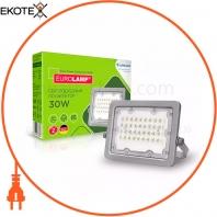 Светодиодный EUROLAMP LED SMD Прожектор серый с радиатором 30W 5000K