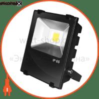 EUROELECTRIC LED COB Прожектор чорний з радіатором 10W 6500K modern