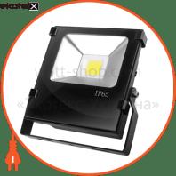 EUROELECTRIC LED COB Прожектор чорний з радіатором 20W 6500K modern