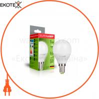 """Світлодіодна EUROLAMP LED Лампа """"Шар"""" ЕURO G45 5W E14 3000K"""