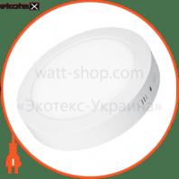 eurolamp led світильник круглий накладний матовий 6w 4000k (20)