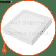EUROLAMP LED Светильник квадратный накладной матовый 6W 4000K (20)