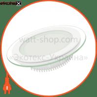 EUROLAMP LED Світильник круглий скло Downlight 6W 4000K (30)