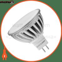 LED лампа MR16 GU5.3 220V 6.5W 3000K Eurolamp
