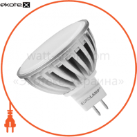 LED лампа MR16 GU5.3 220V 6.5W 4100K Eurolamp