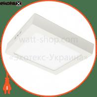 светодиодный светильник ledex, квадрат, накладной,  12w,  6500к холодно белый, матовое стекло, напряжение: ac100-265v, алюминий светодиодные светильники ledex Ledex 102171