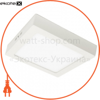 светодиодный светильник ledex, квадрат, накладной, 18w, 4000к , алюминий светодиодные светильники ledex Ledex 102222