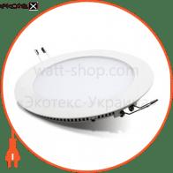 Светодиодный светильник LEDEX, круг,  22W, 4000К нейтральный, матовое стекло, Напряжение: AC100-265V, алюминий, тонкий