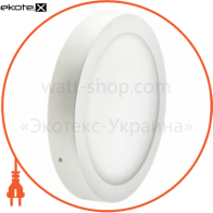 Светодиодный светильник LEDEX, круг, накладной, 24W, 4000К нейтральный, матовое стекло, Напряжение: AC100-265V, алюминий