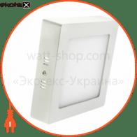 Светодиодный светильник LEDEX, квадрат, накладной,  12W,  6500К холодно белый, матовое стекло, Напряжение: AC100-265V, алюминий