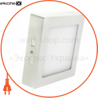 Светодиодный светильник LEDEX, квадрат, накладной,  18W,  3000К тепло белый, матовое стекло, Напряжение: AC100-265V, алюминий
