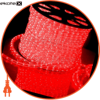 Дюралайт супер гибкий, гладкая поверхность, ультра-яркие светодиоды, без аксессуаров, красный, 220В