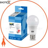 Лампа LED A80 шар 25Вт 230В 6500К E27 IEK