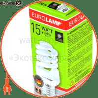 t2 spiral 15w 4100k e27 энергосберегающие лампы eurolamp Eurolamp