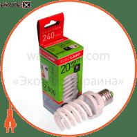 LN-20274 Eurolamp энергосберегающие лампы eurolamp t2 spiral 20w 4100k e27