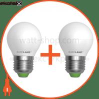 """Промо-набір EUROLAMP LED Лампа ЕКО серія """"Е"""" G45 5W E27 4000K акція 1+1"""