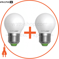 "Промо-набор EUROLAMP LED Лампа ЭКО серія ""Е"" G45 5W E27 3000K акція 1+1"