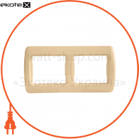 Рамка двухместная Pм-2-Sq-I