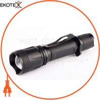 Ліхтар ручний Quantum QM-FL1010 10W LED c zoom-фокусом перезарядний з USB серія Techno