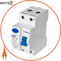 Устройство защитного отключения ENERGIO RE 2P 25А 30мА тип AC