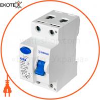 Устройство защитного отключения ENERGIO RE 2P 40А 30мА тип AC