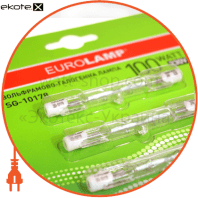 r7s 78mm 100w блистер 3 лампы  галогенные лампы eurolamp Eurolamp