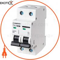 Модульный автоматический выключатель ENERGIO SP-2P C 63А 6кА
