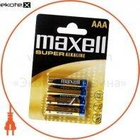 Щелочная батарейка Maxell Super Alkaline AAА/LR03 4шт/уп blister