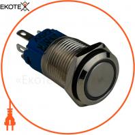 Кнопка металлическая ENERGIO TYJ16-261 с подсветкой без фиксации 220В красная NO+NC