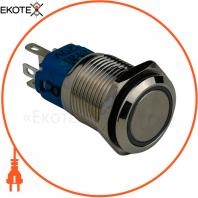 Кнопка металлическая ENERGIO TYJ16-361 с подсветкой с фиксацией 220В красная NO+NC