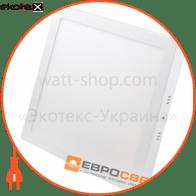 Світильник точковий накладний ЕВРОСВЕТ 24Вт квадрат LED-SS-300-24 6400К