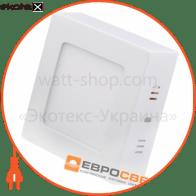 Світильник точковий накладний ЕВРОСВЕТ 6Вт квадрат LED-SS-120-6 4200К