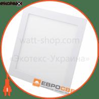 Світильник точковий врізний ЕВРОСВЕТ 18Вт квадрат LED-S-225-18 4200К