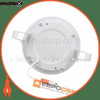 светильник led-r-90-3 3вт 4200к круг встраиваемый светодиодные светильники евросвет Евросвет 39169