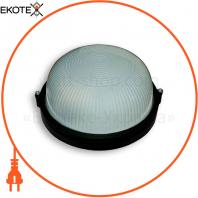 Светильник 60w круг влагозащищенный черный