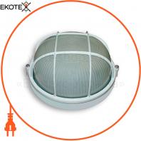 Светильник 60w круг влагозащищенный белый с решеткой