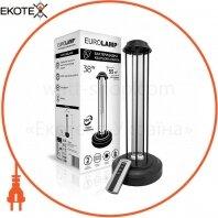 Лампа EUROLAMP бактерицидная безозоновую на металлической подставке 38W black