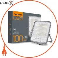 LED прожектор VIDEX PREMIUM 100W 5000K 220V Gray